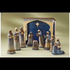 10 PIECE SET - Jim Shore Nativity Set